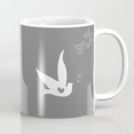 Wings of Love - Silver & Grey Coffee Mug