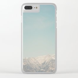 Mount Whitney, looks like it's painted on! Clear iPhone Case