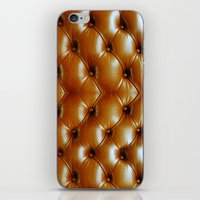 sofa iPhone & iPod Skins featuring Gold Sofa :D by dadostirlo
