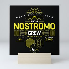 Deep Mining Crew / Nostromo / Alien / Science Fiction / Horror / Typography Mini Art Print