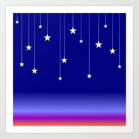 Falling Stars Art Print