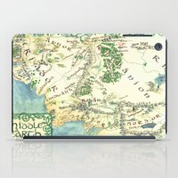 middle earth iPad Cases featuring Middle Earth map by Ioreth