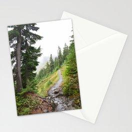 Alpine Ridgeline Trail Woods Forest Mountain Mist Washington Mount Baker Northwest Outdoors Nature W Stationery Cards