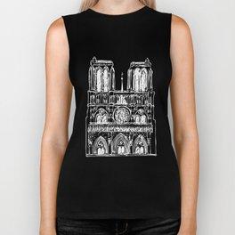 Notre Dame white Biker Tank