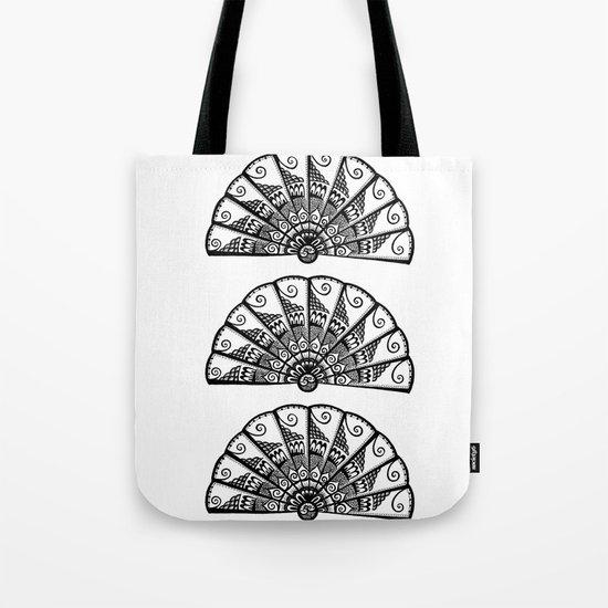 Triple Fan Tote Bag