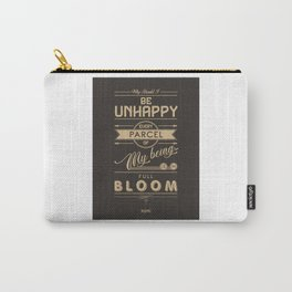My being is in full bloom - Rumi Quote Carry-All Pouch