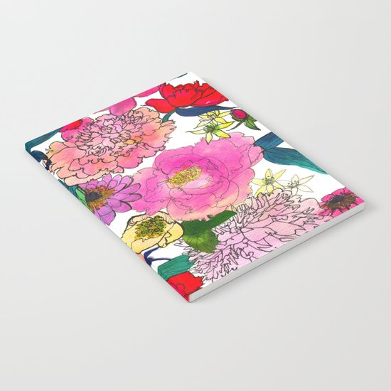 Peonies & Roses Notebook
