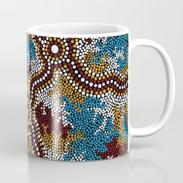 Authentic Aboriginal Art - Wetland Dreaming Coffee Mug
