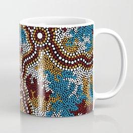 Authentic Aboriginal Art - Wetland Dreaming Coffee Mug