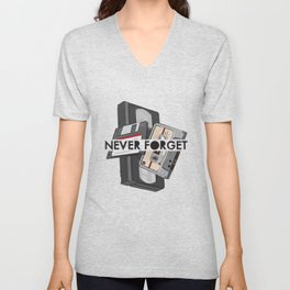 Never Forget - 1 Unisex V-Neck