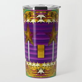 Stars of the magical wand in a golden moonlight night Travel Mug