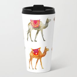 Cute watercolor camels Travel Mug