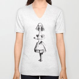 Alice in Wonderland - Long Neck Unisex V-Neck
