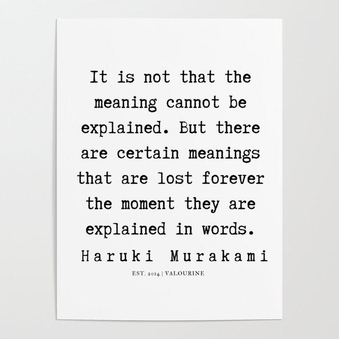 53 Haruki Murakami Quotes 190811 Poster By Quotesandsayings
