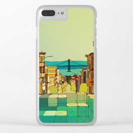 San Francisco digital street view Clear iPhone Case