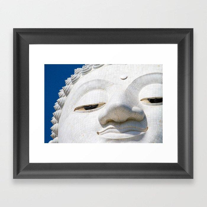 Face of Buddha Framed Art Print