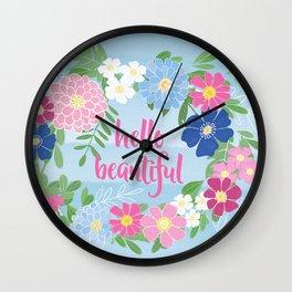 Hello Beautiful Wall Clock
