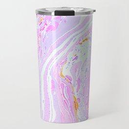 Marble Pastel Pink Travel Mug