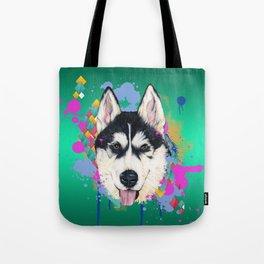 Husky Malamute Tote Bag