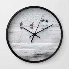 Winter Eagles Wall Clock