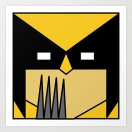 Minimal Wolverine Art Print