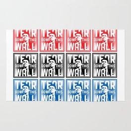 AMERICA : Ronald Regan : Tear Down This Wall Rug