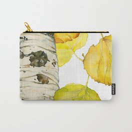 Falling Aspen Leaves Carry-All Pouch