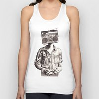 radio Tank Tops featuring Radio-Head by KatePowellArt