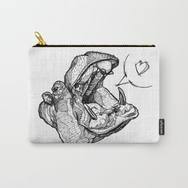 Hippos need love Carry-All Pouch