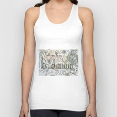 Will you be my bridesmaid? (Bouquet background) Unisex Tank Top