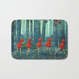 Five Little Red Riding Hoods 1 Bath Mat