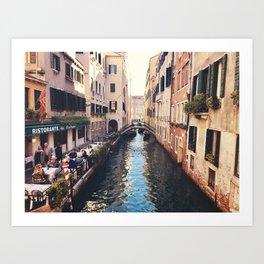 Just a canal Art Print