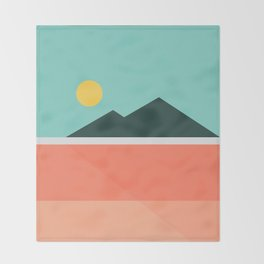 Geometric Landscape 16 Throw Blanket
