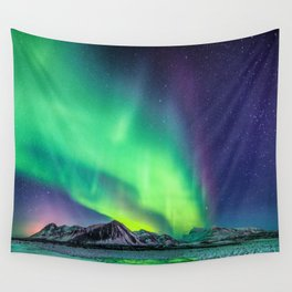 Northern Lights in Iceland Wall Tapestry