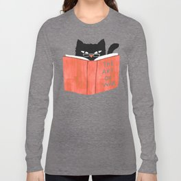 Cat reading book Long Sleeve T-shirt