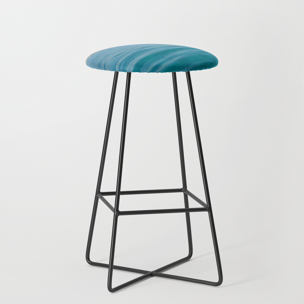Travel Destination In Holidays It The Best For Cha... Bar Stool with Black Legs by Darwindsbfromnewyork