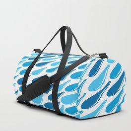 monochromatic blue aqua turquoise navy teal sapphire Duffle Bag