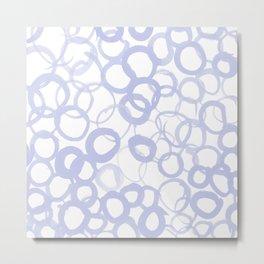 Watercolor Circle Pale Blue Metal Print