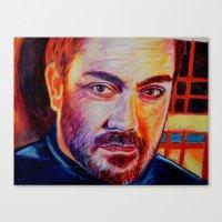crowley Canvas Prints featuring Crowley by Kelsey Voykin