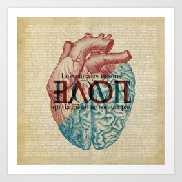 Love is...heart and reason Art Print