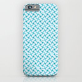 Aqua Celtic Knot Pattern iPhone Case