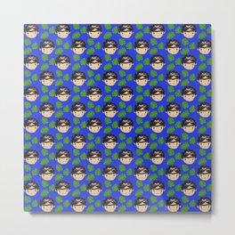 frida blue Metal Print