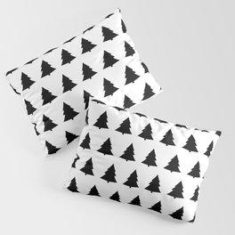 Chistmas Tree Black and White Seamless Pattern Pillow Sham