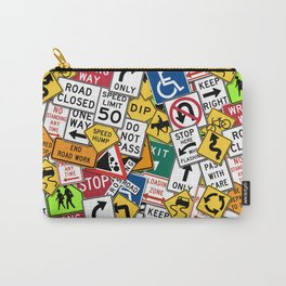 Street Signs Collage Carry-All Pouch