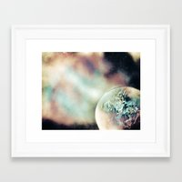 outer space Framed Art Prints featuring Outer Space by InfiniteSprayArt