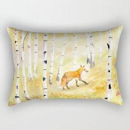 Fox in Birch Forest  Rectangular Pillow