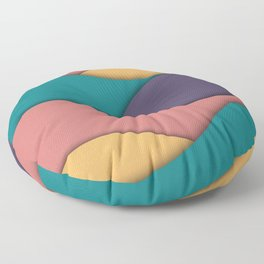 Simple retro colored waves pattern material design Floor Pillow