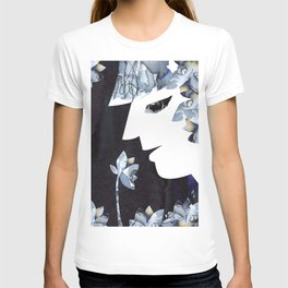 Portrait of a Woman Smelling Flowers T-shirt