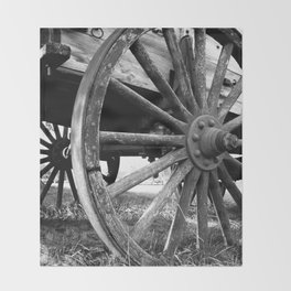 Wagon Wheel #4 Throw Blanket