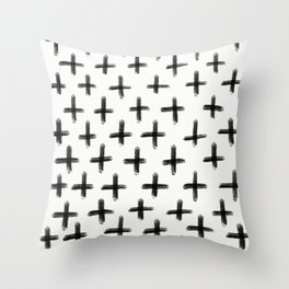 Painted Cross Pattern Throw Pillow